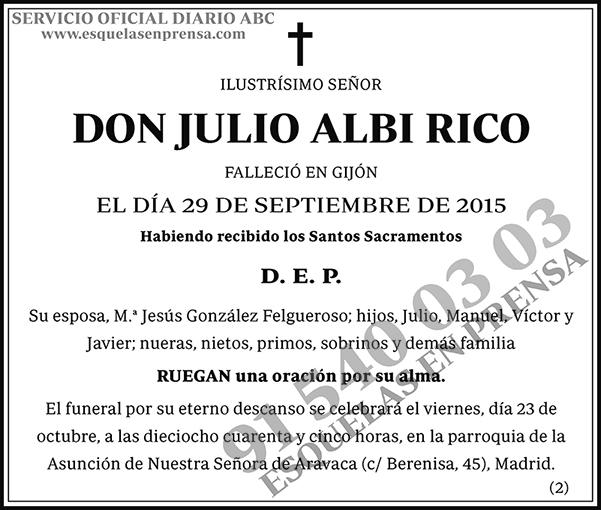 Julio Albi Rico